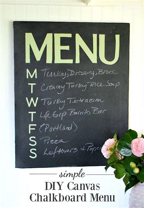 diy chalkboard menu easy diy canvas chalkboard menu