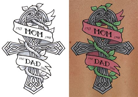 mom and dad tattoos designs design for my bbbff by sakkysa on deviantart