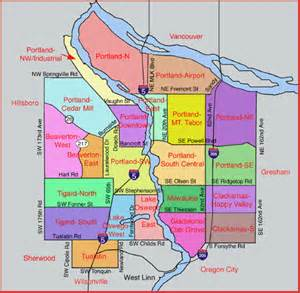 Portland Area Map by Portland Oregon And Surrounding Area Map Quotes