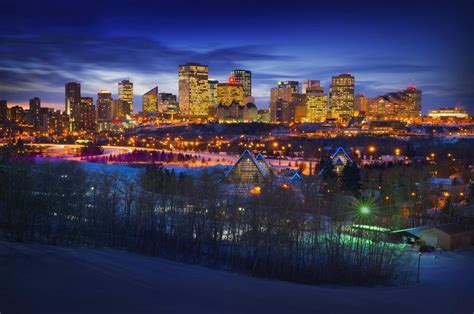 edmonton winter skyline pacificstock canvas