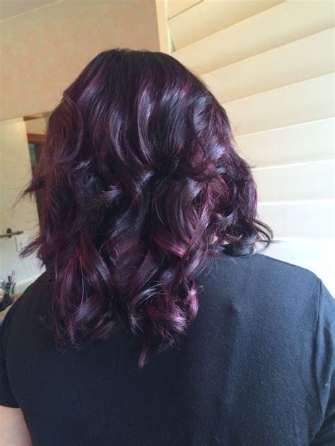 balayage highlights san antonio dark red violet base with lighter violet balayage