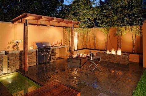 barbecue area patio contemporary with