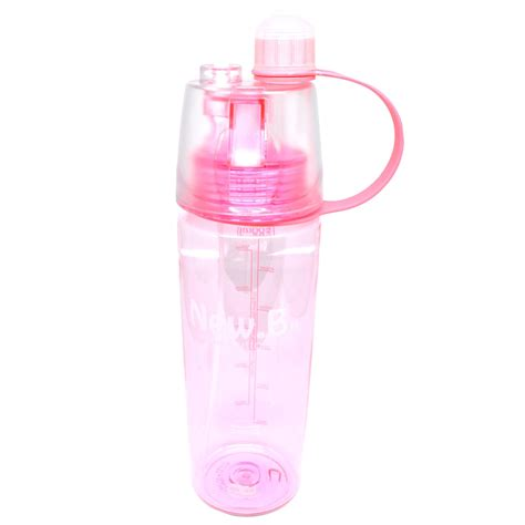 New B Botol Minum Dengan Spray 600ml Limited new b botol minum dengan spray 600ml sm 8520 pink