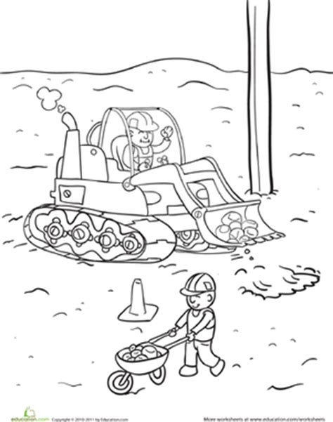 construction site construction site coloring pages