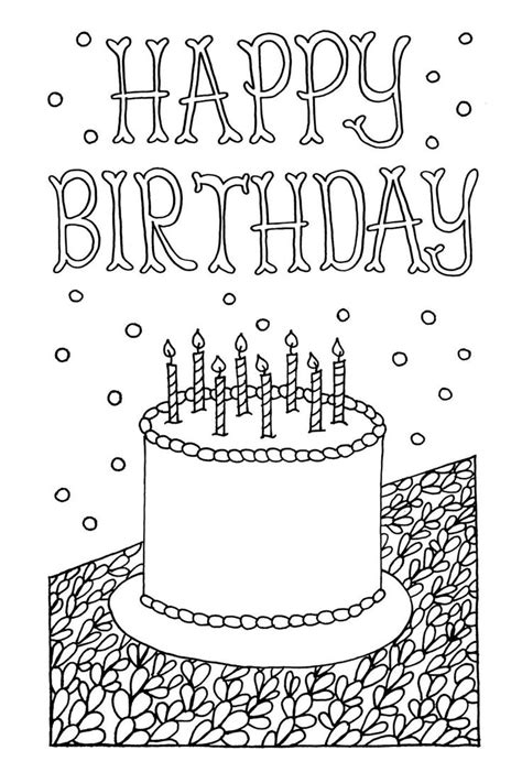 coloring pages for adults birthday free downloadable adult coloring greeting cards adult