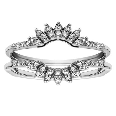 wedding ring where your engagement slips in between two