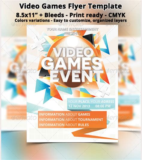design event flyer online free 20 amazing online gaming flyer templates free premium