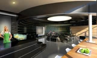 modern futuristic cafe lounge design idea plushemisphere