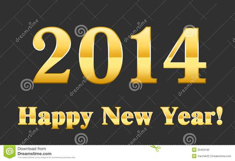 font new year gold font 2014 happy new year stock photo image 33453160