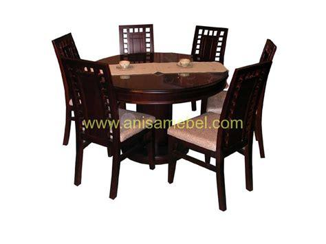 Meja Makan Kursi 6 meja makan bundar 6 kursi anisa mebel jepara pilihan furniture berkualitas