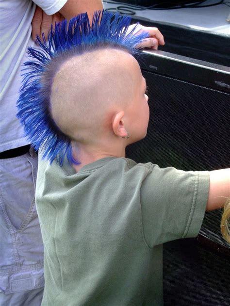 young apprentice  blue mohawk mohawk hairstyles men
