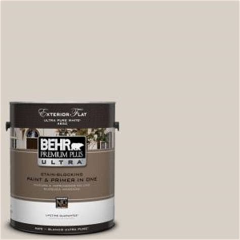 behr premium plus ultra 1 gal ul170 15 mineral flat exterior paint 485001 the home depot