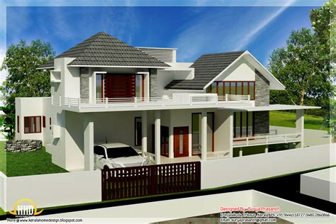 modern style house plans new contemporary mix modern home designs kerala home design and floor plans