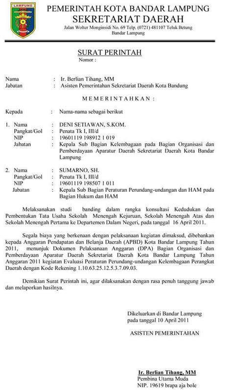 Surat Tugas Perjalanan Bisnis by 15 Contoh Surat Resmi Cara Membuat Undangan Pemerintah