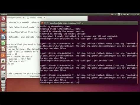 tutorial telnet ubuntu how to install and configure telnet server in ubuntu youtube