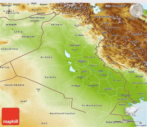 map of iraq and surrounding area physical 3d map of iraq