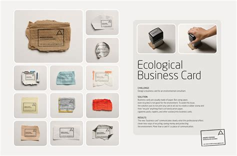 rubber st business cards ecological business cards the inspiration room