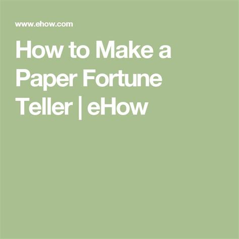 How To Make A Paper Fortune Teller - 17 best ideas about paper fortune teller on