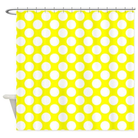 yellow polka dot shower curtain yellow and white polka dot shower curtain by polkadotted