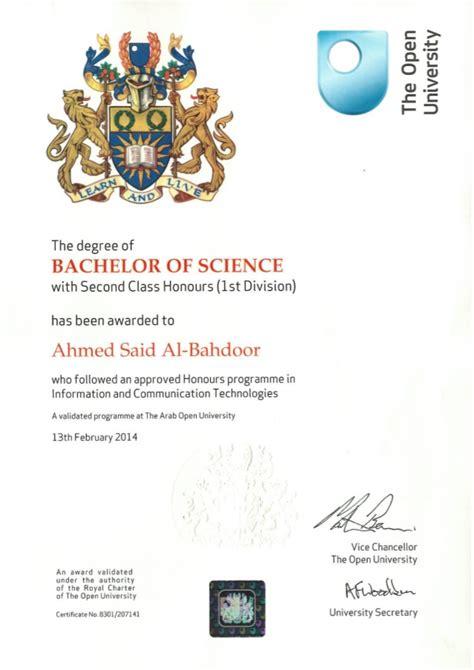 Ou Mba Program by Open Certificate