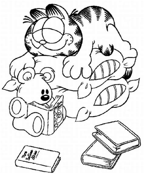 garfield coloring pages games may 2011 team colors