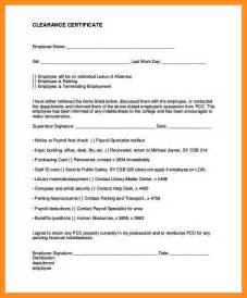 Financial Clearance Letter Employee Clearance Form Free Completing Employee Clearance Form 20 Employee Clearance Form