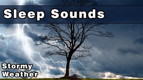 sleep sounds stormy weather rain sounds wind