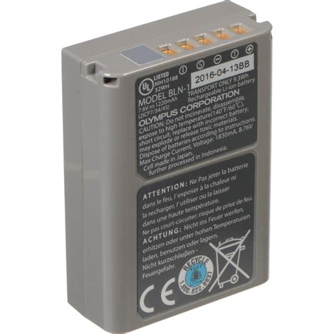 Olympus Bln 1 Battery olympus bln 1 rechargeable lithium ion battery v620061xu000 b h