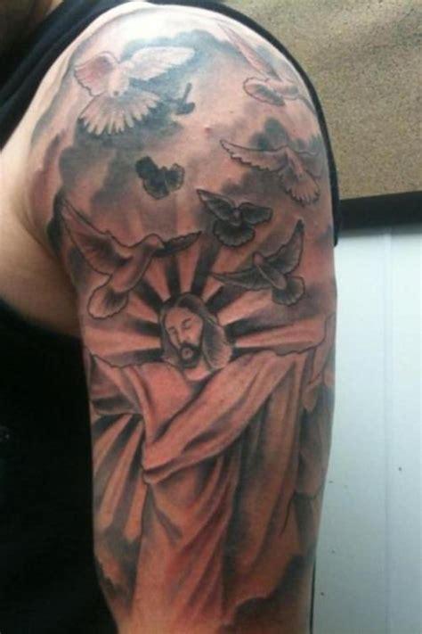 bird quarter sleeve tattoo 20 cloud tattoos on sleeve