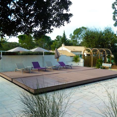 piscina per terrazzo copertura di sicurezza per piscina coverwood a terrazza