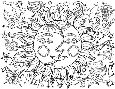 moon coloring page pdf free printable sun and moon adult coloring page download