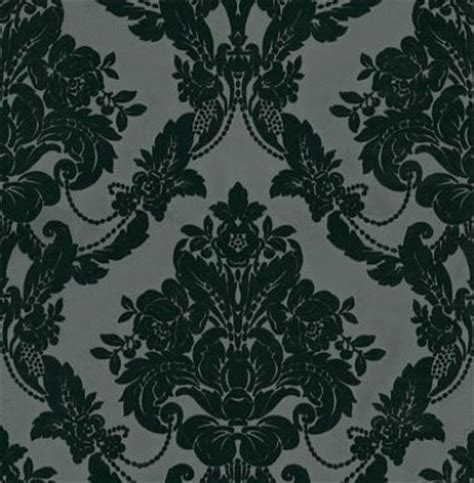 black and white velvet wallpaper palais black velvet wallpaper by wallpaperdirect