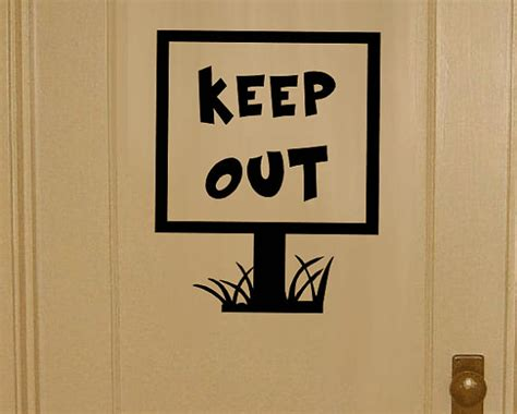 keep out signs for bedroom doors items similar to keep out door vinyl decal keep out
