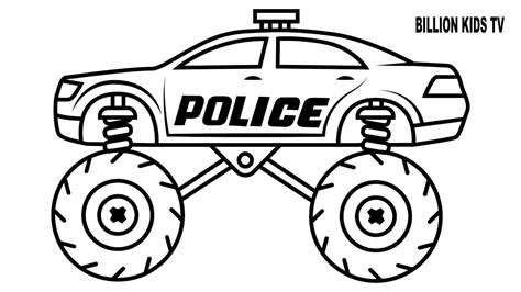 coloring pages police truck police monster truck coloring pages police best free