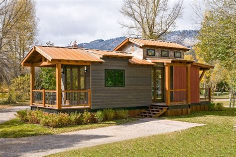 spacious and modern park model tiny house on a trailer