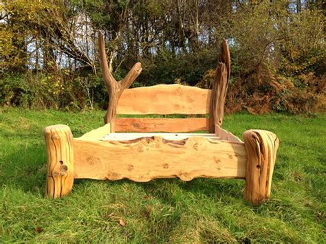 Handmade Oak Beds - chunky rustic oak bed free range designs