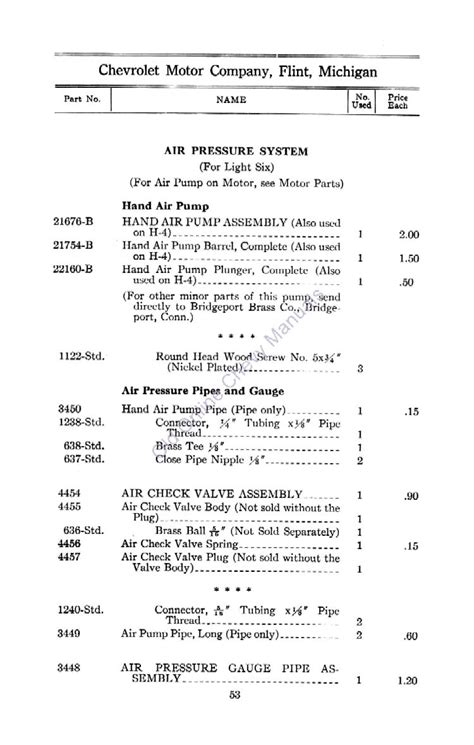 chevrolet parts price list directory index chevrolet 1912 chevrolet and little 1912
