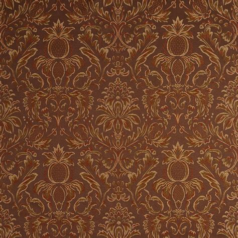 drapery fabric by the yard f551 floral pineapple damask upholstery fabric by the yard