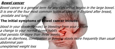 Can You Colon Cancer Without Blood In Stool by Bowel Cancer Symptoms Bowel Cancer Symptoms