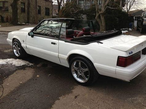 1993 ford mustang gt 52 000 white conv 8 cylinder