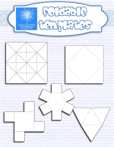 this set includes 5 foldable templates in different shapes