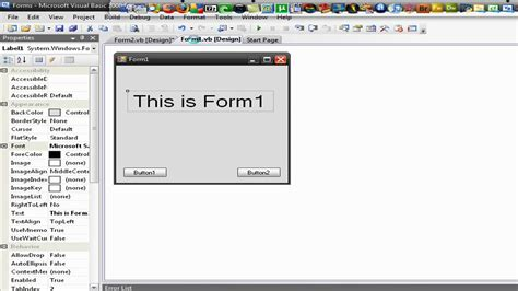 design form on visual basic how to make a form show when click in visual basic 2008