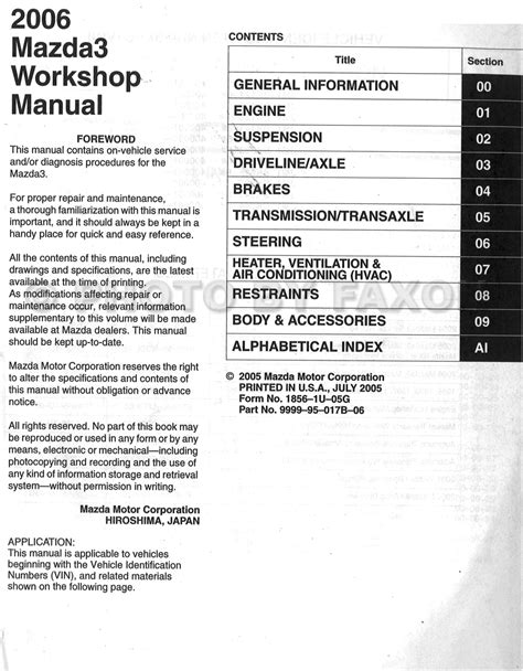 old cars and repair manuals free 2006 mazda mazda6 5 door electronic throttle control service manual pdf 2006 mazda mazda3 repair manual 06 2006 mazda 3 owners manual for sale