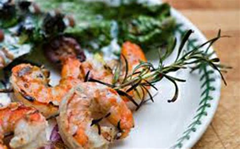rosemary skewered shrimp with lemon recipe from harvest