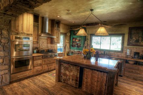 Western Decorating Ideas For Your Kitchen South Ranch Rustic Kitchen Other Metro By