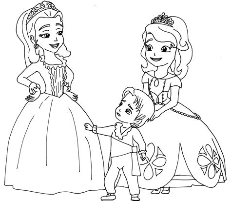sofia the first coloring pages two princesses and a baby