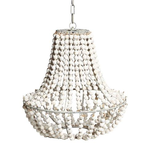 White Wood Bead Chandelier Light Fixtures Design Ideas White Wooden Chandelier