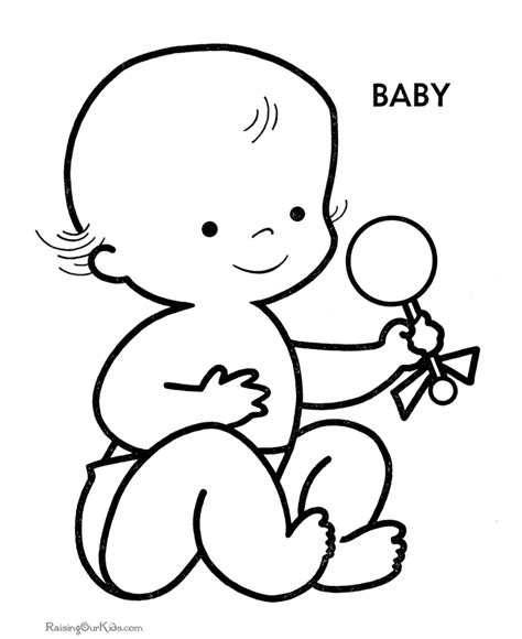 coloring page of baby boy free printable baby shower coloring pages coloring home