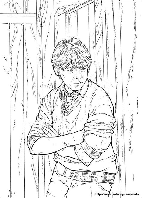 harry potter coloring pages ron 39 best images about harry potter coloring pages on