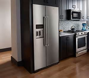 kitchenaid cabinet depth side by refrigerator mf cabinets
